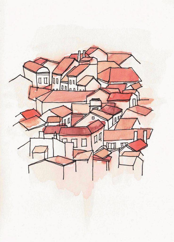 Dächer in Piran